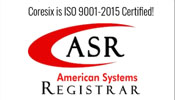 Coresix is ISO 9001-2015 Certified
